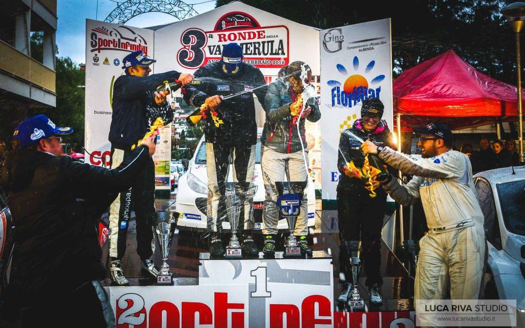 3° Ronde Val Merula 2016. La Liguria inaugura la stagione rallystica.