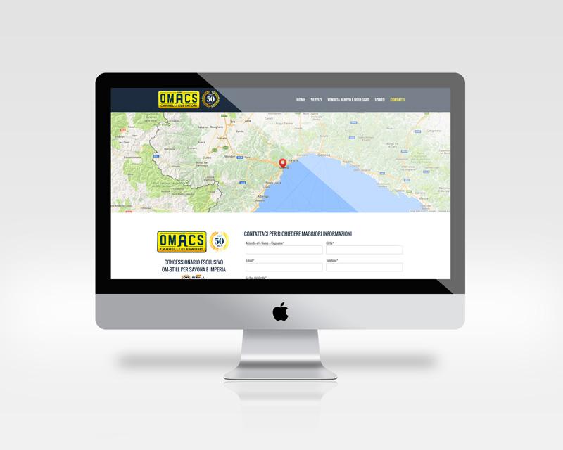 Pagina Contatti del sito Omacs