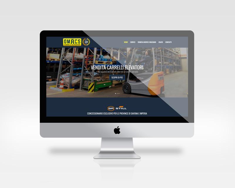 Home page del nuovo sito internet Omacs