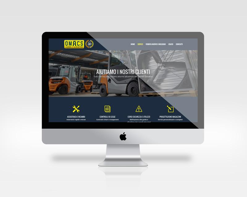 Home page del sito Omacs